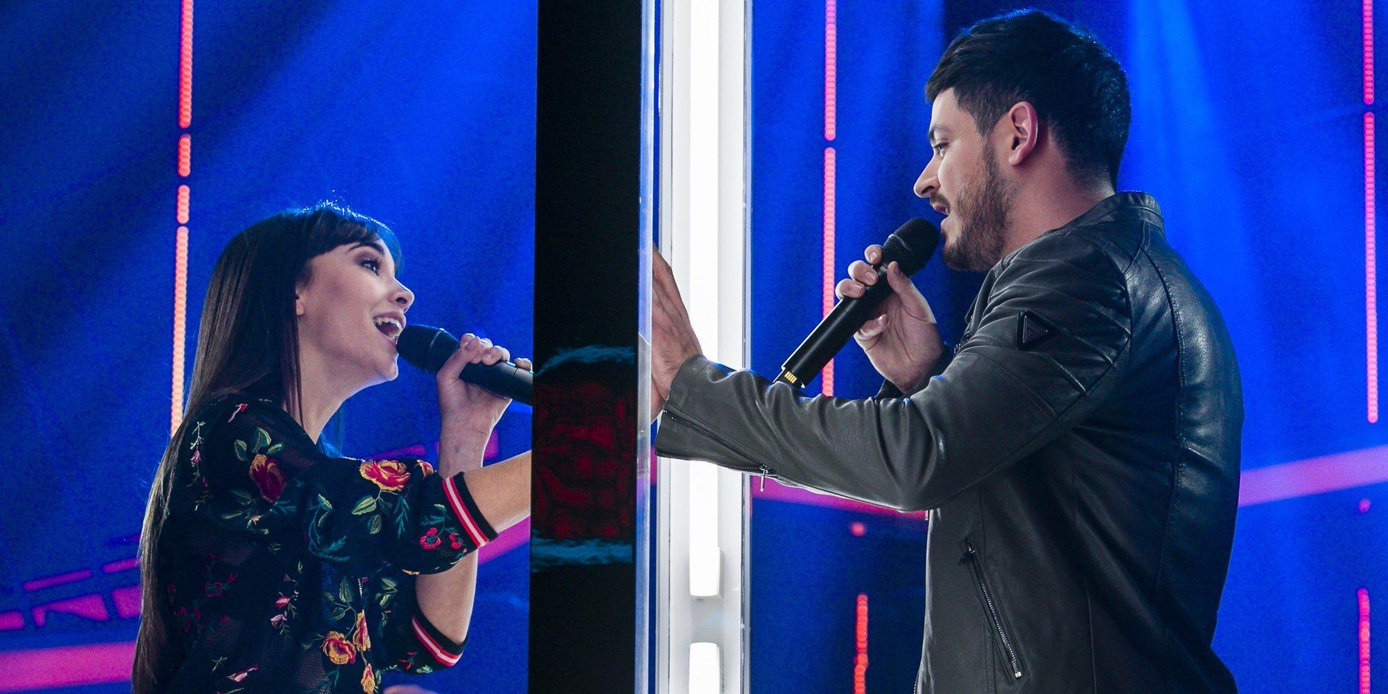 Aitana y Cepeda se besan por primera vez en público durante los ensayos del concierto de 'Operación Triunfo'