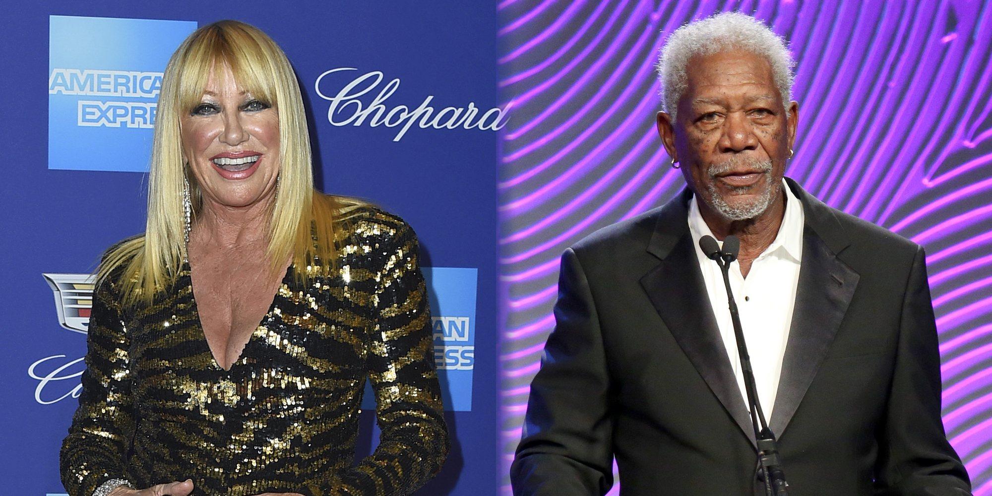 """Suzanne Somers defiende a Morgan Freeman de las acusaciones de acosos sexual diciendo que es """"un gran coqueto"""""""