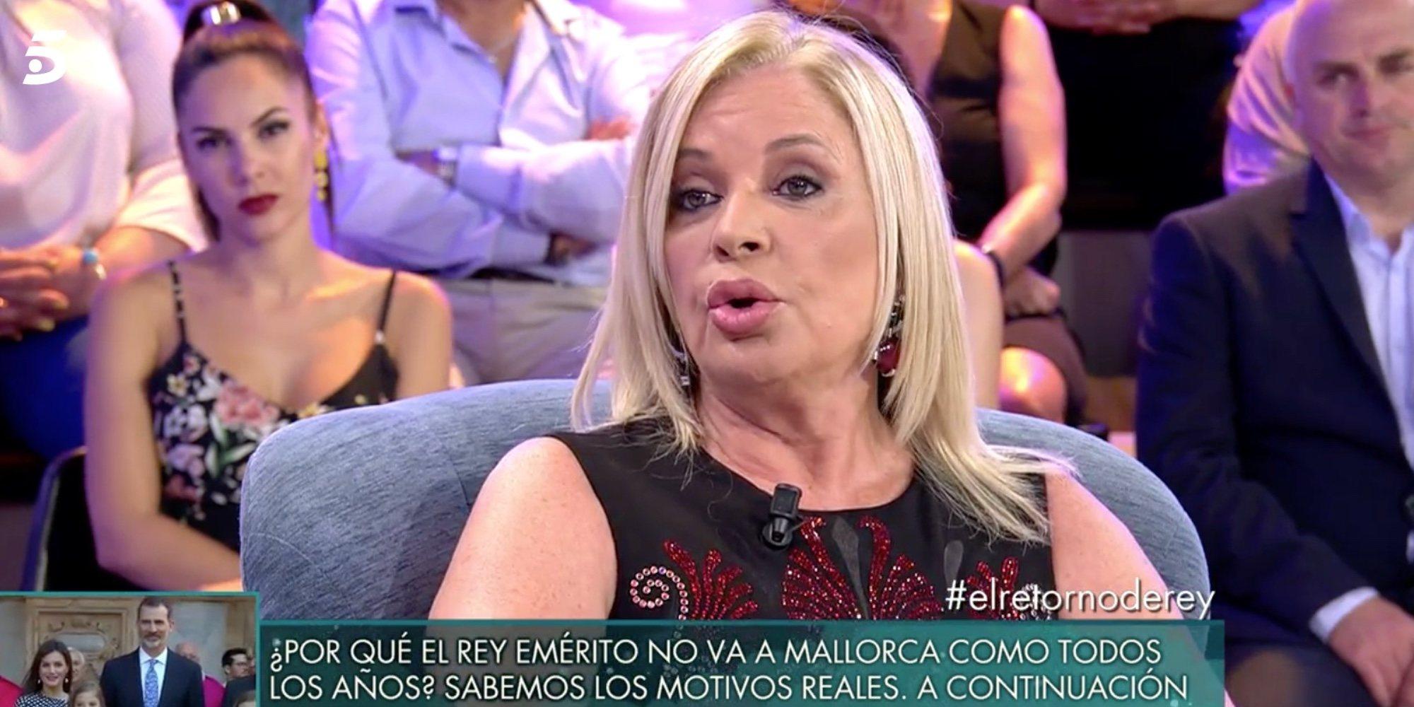 """Bárbara Rey juega al misterio cuando le preguntan por Don Juan Carlos: """"Hay personas que se les tiene cariño"""""""