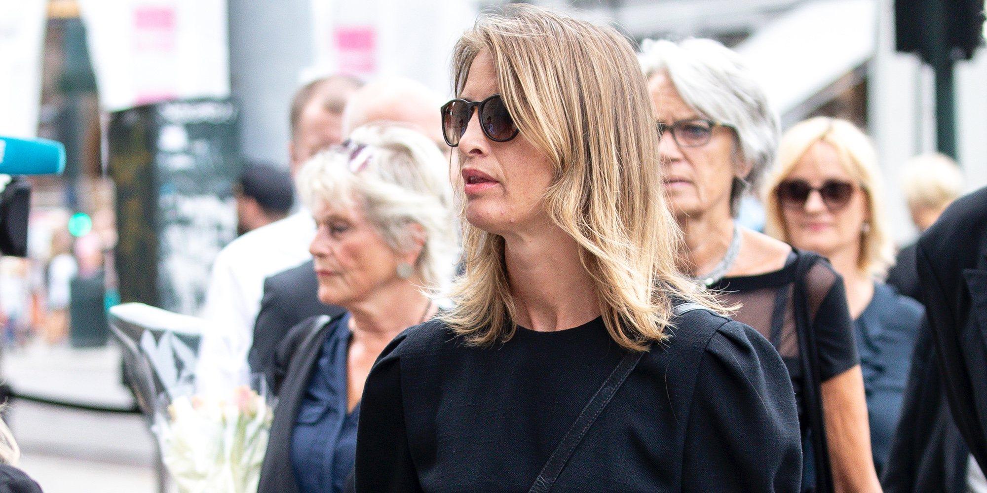 La reaparición de Eva Sannum: de funeral con los Reyes de Noruega en Oslo