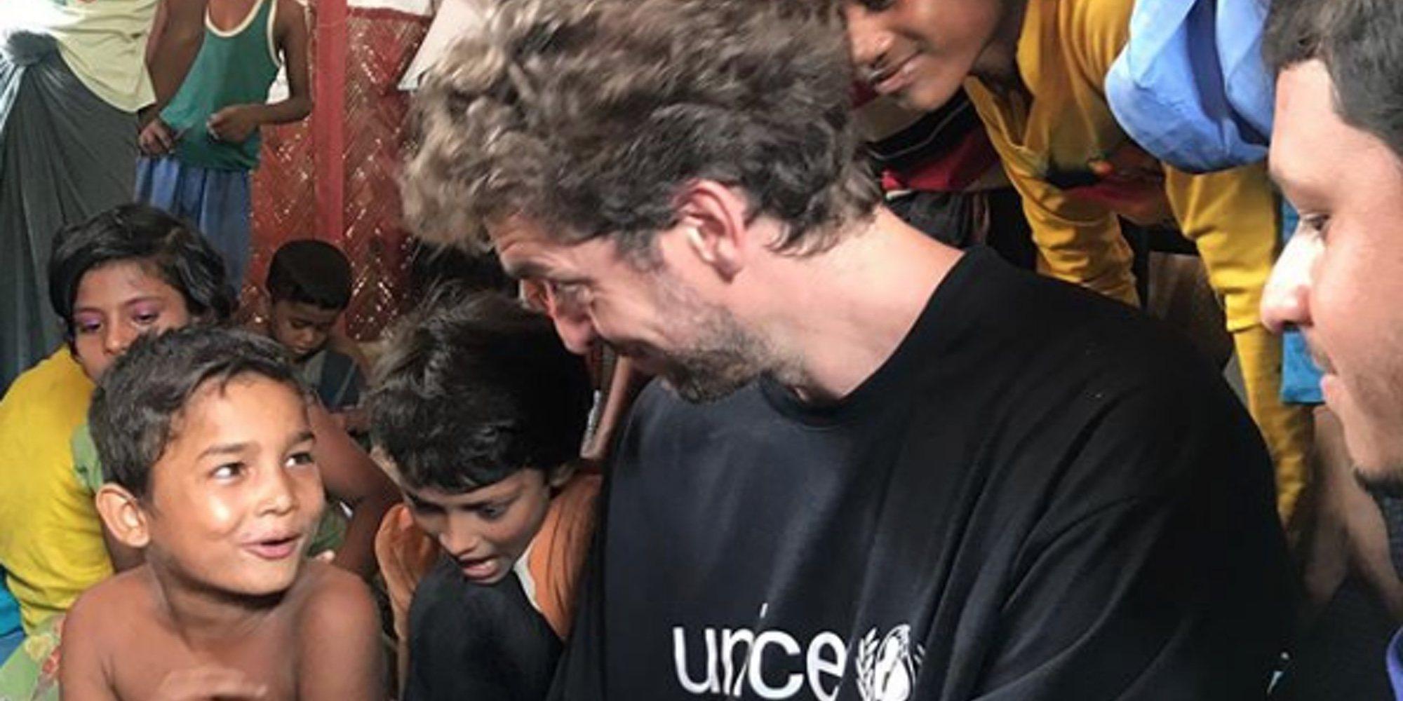 Pau Gasol visita el mayor campo de refugiados en Bangladesh con Unicef
