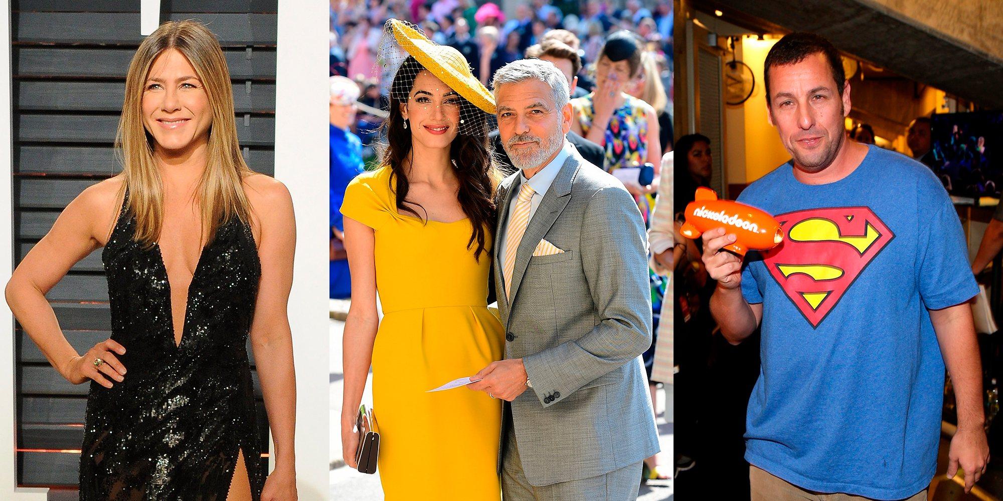 Jennifer Aniston y Adam Sandler disfrutan de una agradable velada en casa de George y Amal Clooney