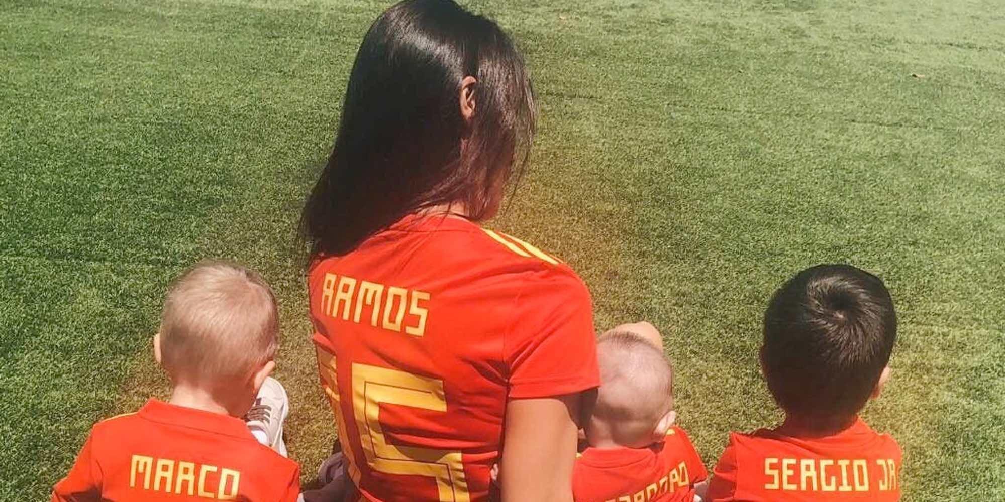 El divertido día en la granja escuela de Pilar Rubio con sus hijos Sergio y Marco Ramos