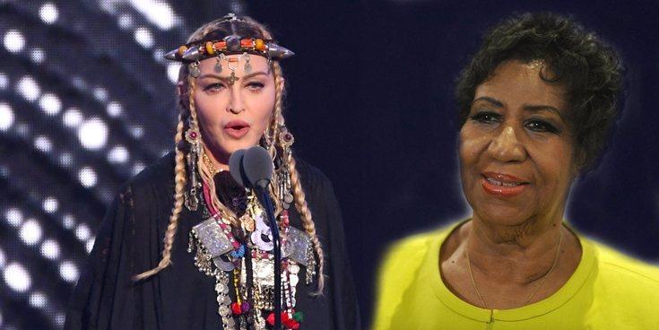 El fallido tributo a Aretha Franklin que realizó Madonna durante la gala de los Video Music Awards 2018