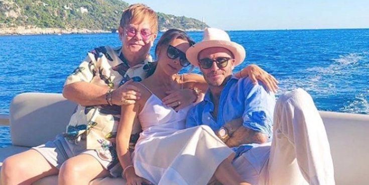 David y Victoria Beckham y Elton John celebran sus 25 años de amistad con unas vacaciones en la Costa Azul