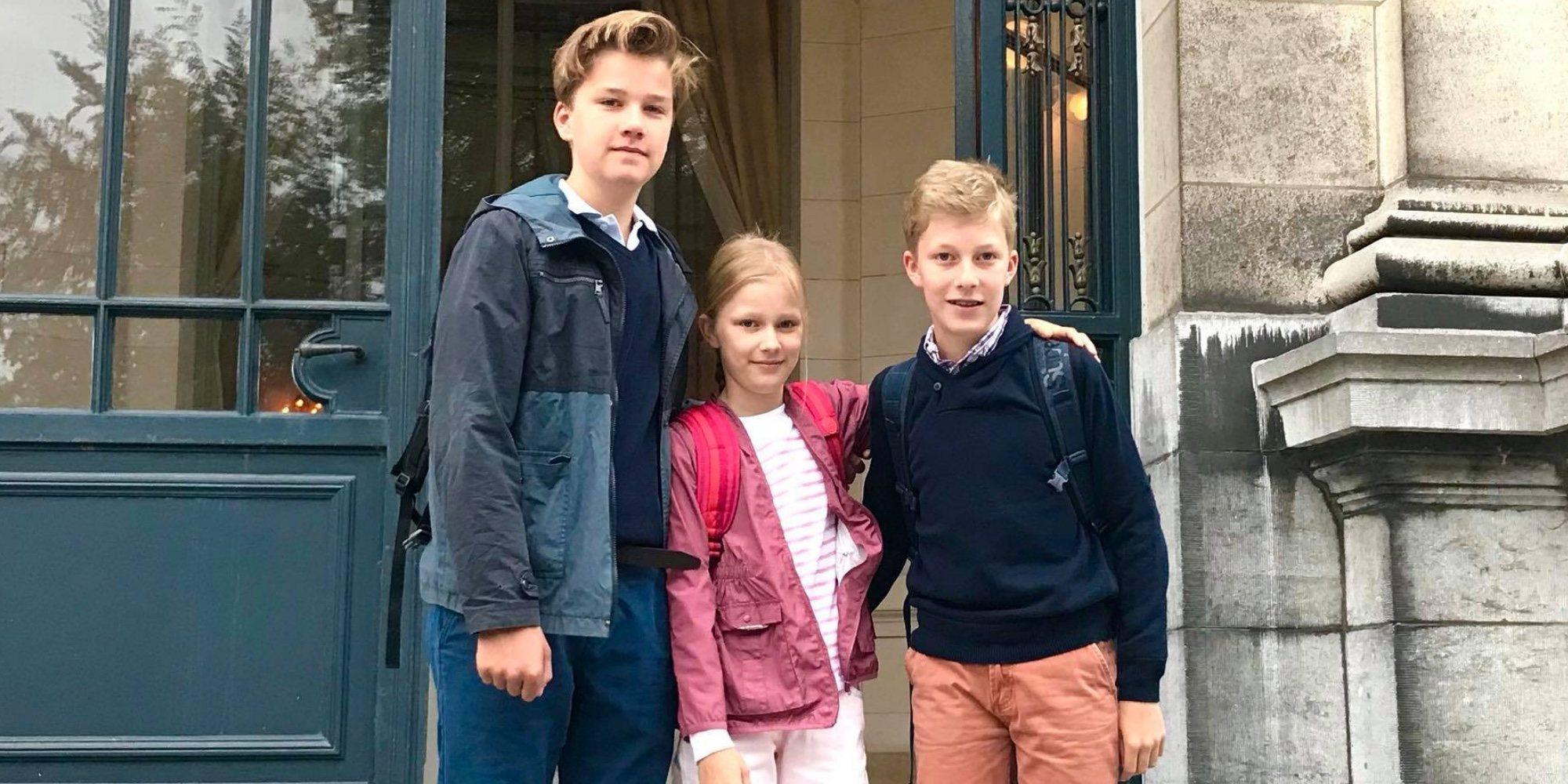 La ausencia de la Princesa Isabel marca la vuelta al cole de los hijos de Felipe y Matilde de Bélgica