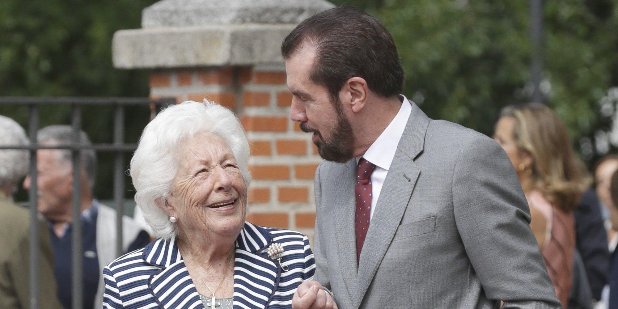 Menchu Álvarez del Valle reaparece en Covadonga para el primer acto institucional de la Princesa Leonor