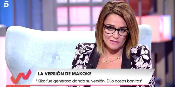 Toñi Moreno se enfada en directo con Makoke durante su entrevista en 'Viva la vida'