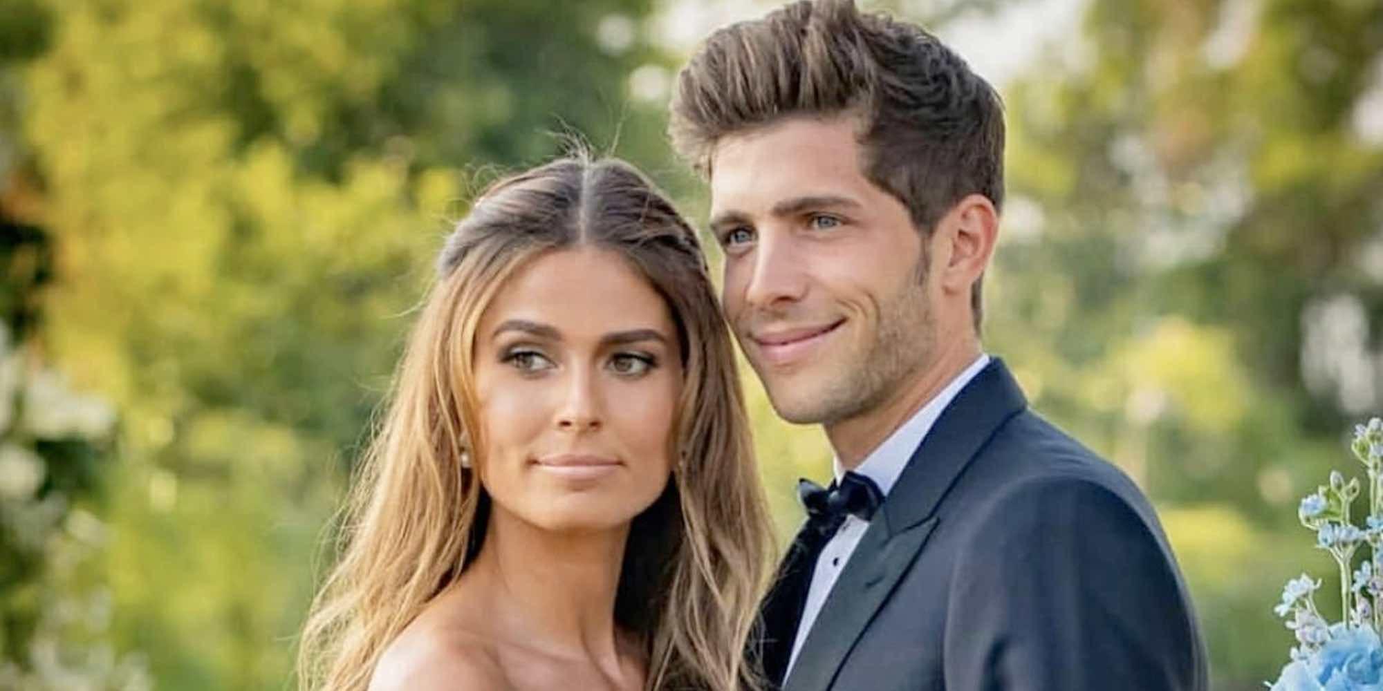 La romántica felicitación de Sergi Roberto a Coral Simanovich en su primer cumpleaños de casada