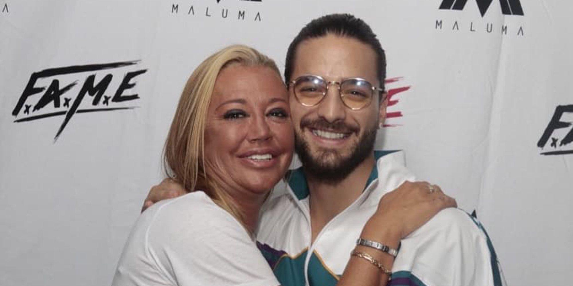 Maluma se parte de risa tras escuchar la descarada petición que Belén Esteban le hizo en su concierto