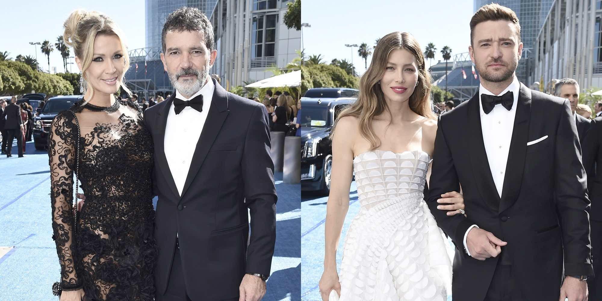 Antonio Banderas y Nicole Kimpel, Justin Timberlake y Jessica Biel,... las parejas de los Emmys 2018