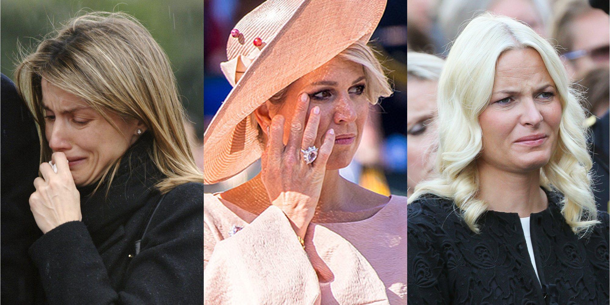 La realeza también llora: la Reina Letizia, Máxima de Holanda, Mette-Marit de Noruega y otros lo demuestran