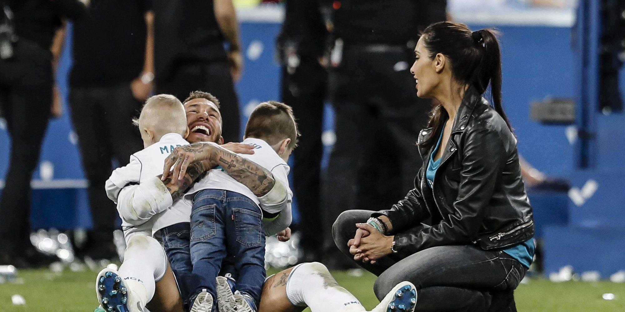 El duelo de ping-pong entre Pilar Rubio, Sergio Ramos y sus hijos: 'Ojitos azules' versus 'Sergios'