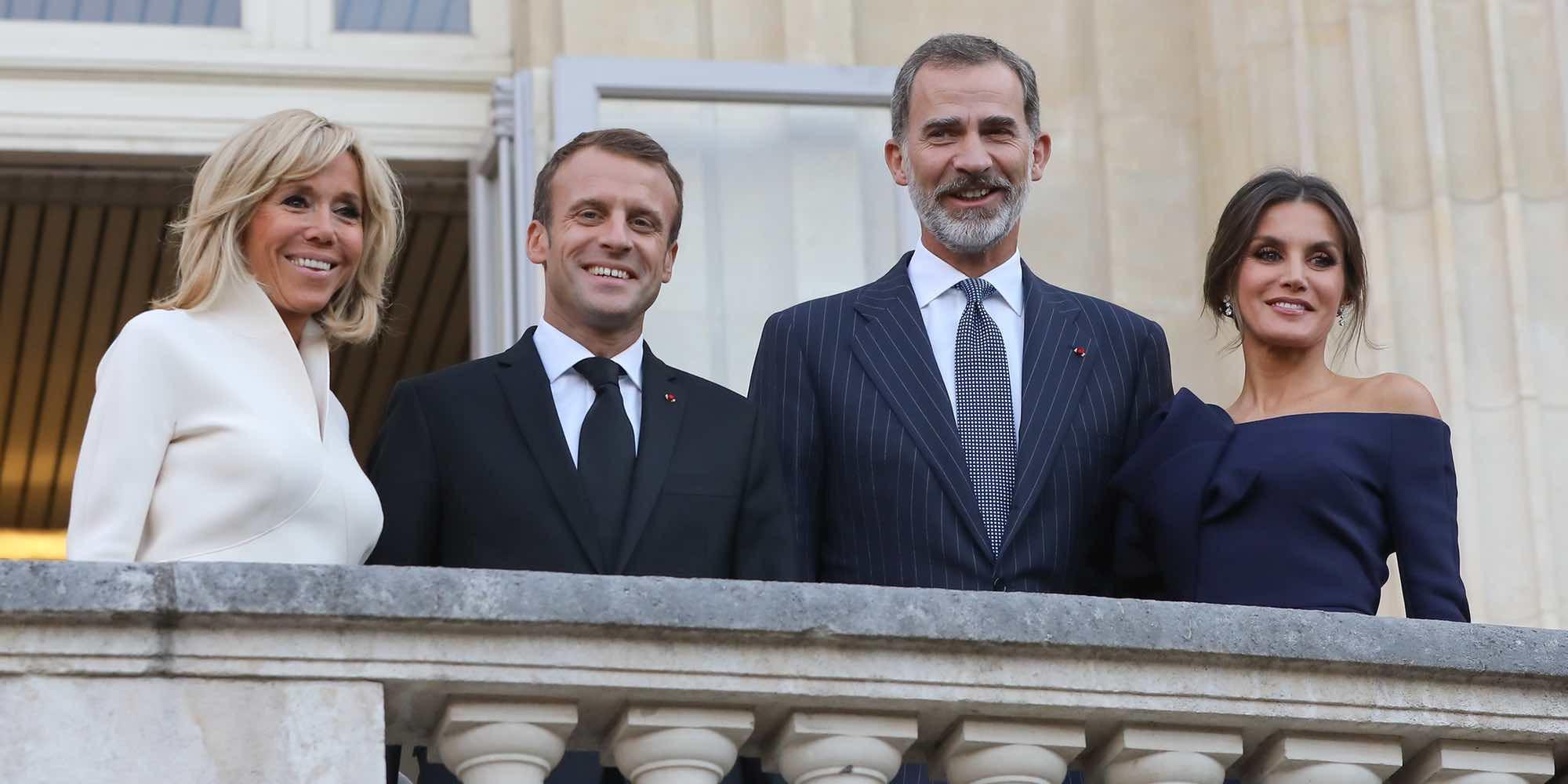 El guiño de Brigitte Macron a la Reina Letizia durante su visita oficial a París
