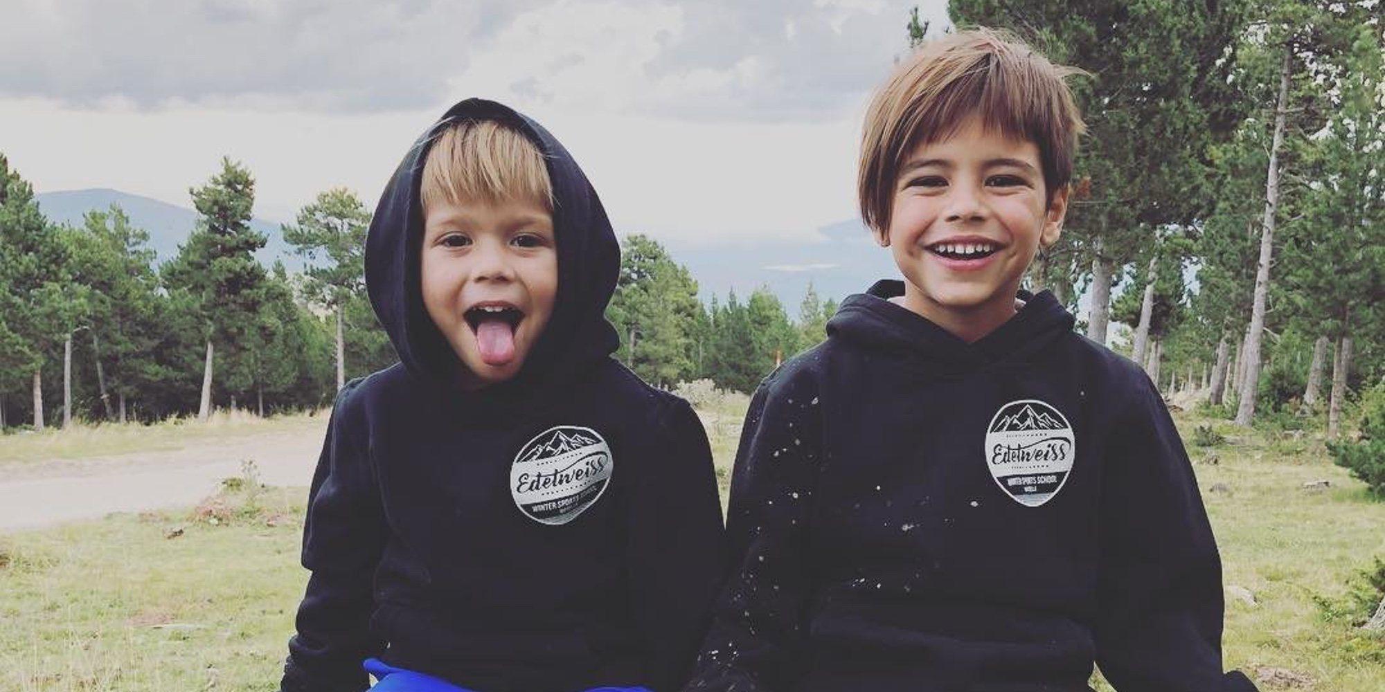 Gerard Piqué disfruta de una 'pelea' de barro en toda regla con sus hijos Milan y Sasha