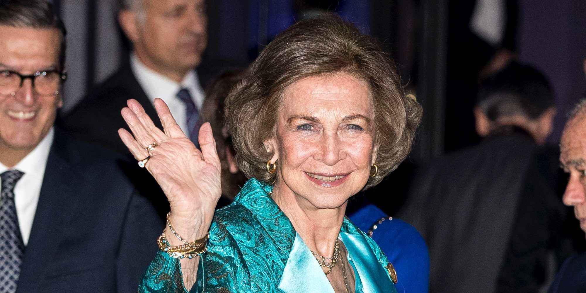 La felicidad de la Reina Sofía por la visita de la Infanta Cristina y sus nietos Miguel e Irene Urdangarin