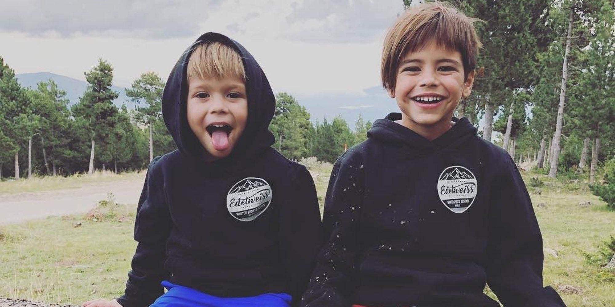 Milan y Sasha Piqué apoyan a un equipo que no es el de su padre Gerard Piqué