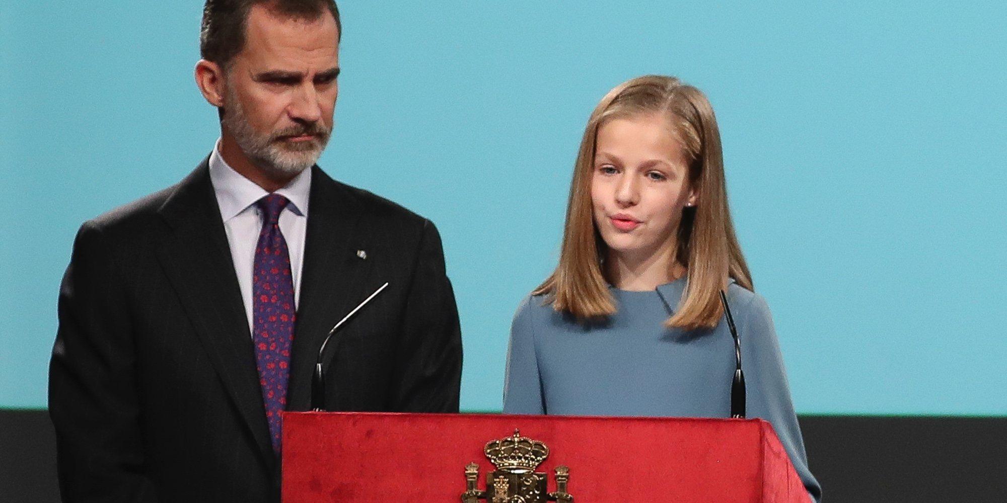 La primera intervención pública de la Princesa Leonor, superada con éxito ante el orgullo de la Reina Letizia