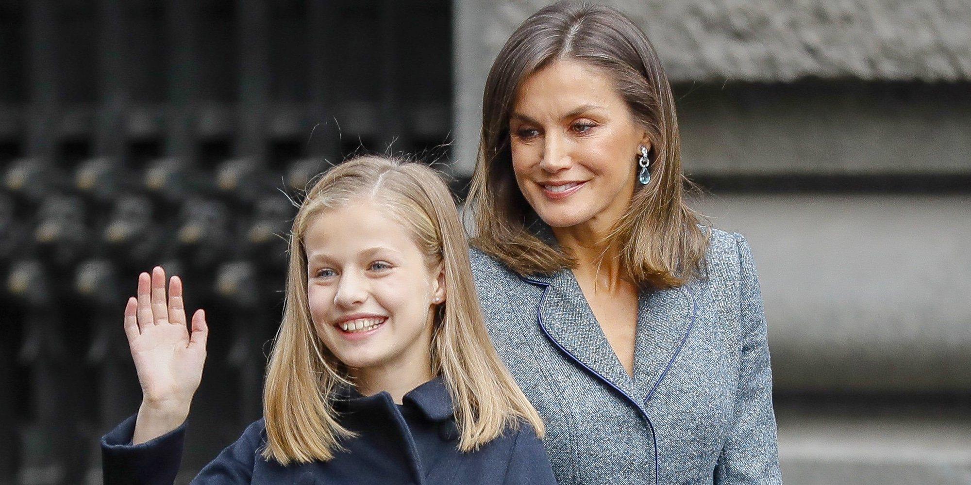Primeras palabras de la Reina Letizia sobre la primera intervención pública de la Princesa Leonor