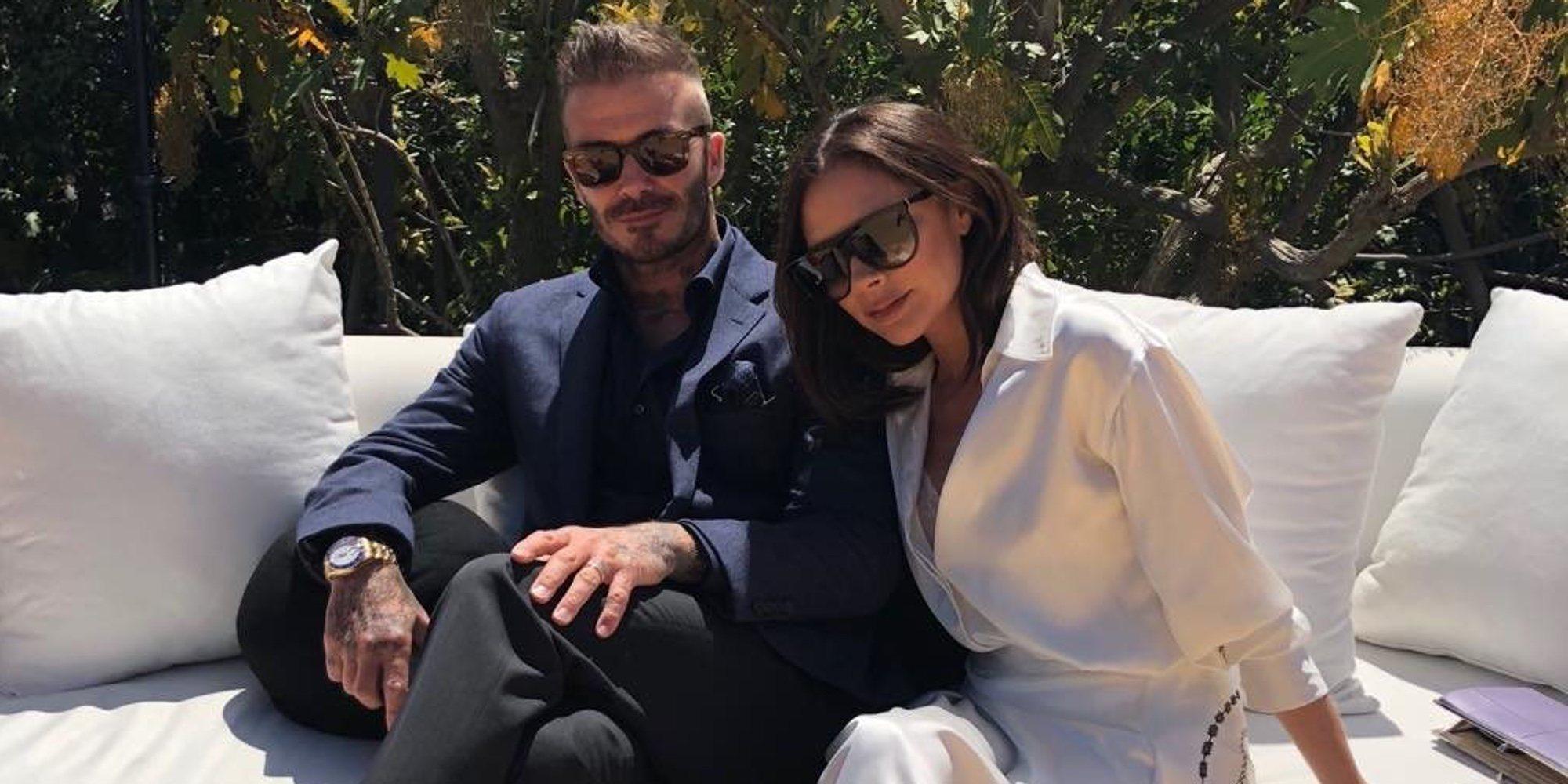 Los Beckham se gastan 30.000 libras en una pista de tenis para Romeo Beckham