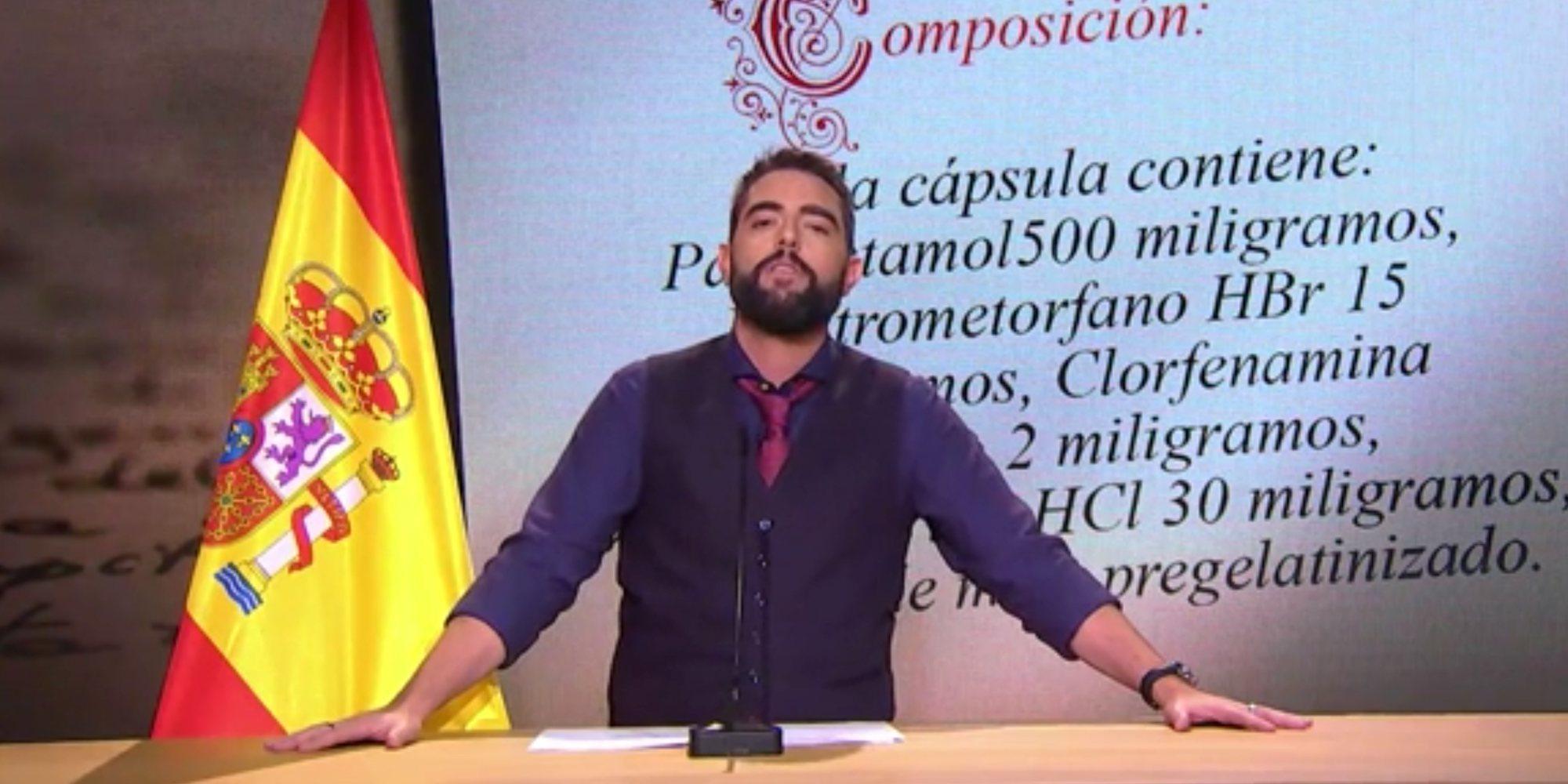 Dani Mateo actúa en Ciudad Real con escolta tras sonarse los mocos con la bandera de España
