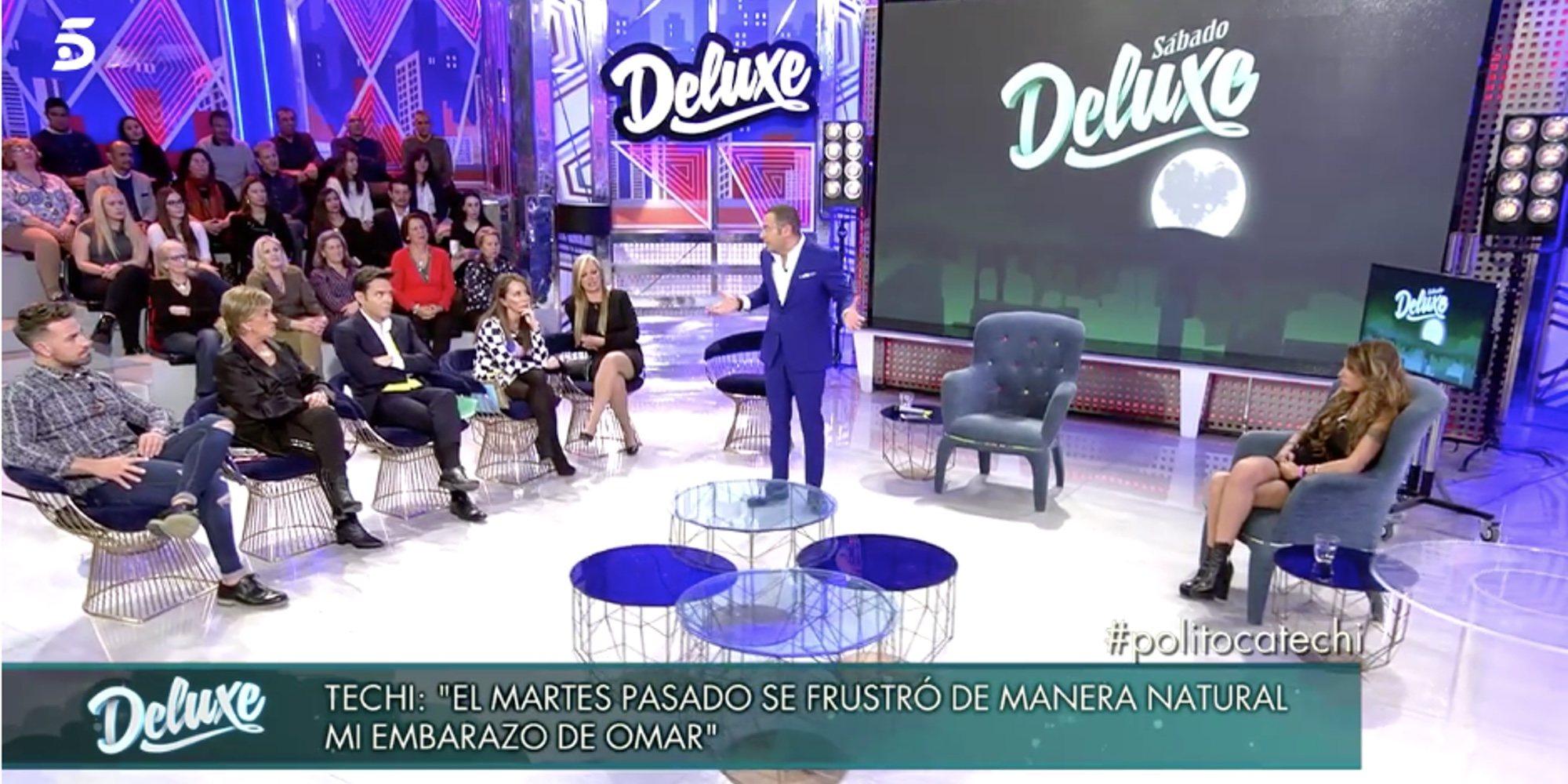 """Jorge Javier Vázquez expulsa a Omar Montes del 'Deluxe': """"Tus palabras hacia Techi son denigrantes"""""""