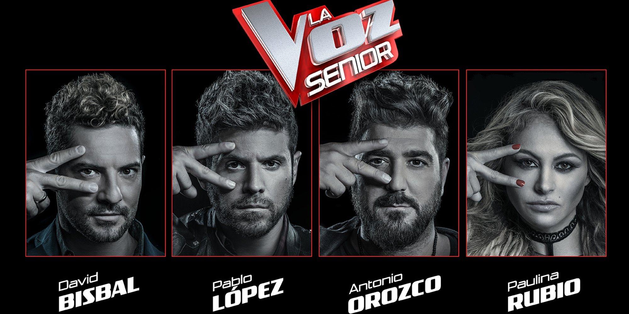 'La Voz Senior' llega a España con David Bisbal, Pablo López, Paulina Rubio y Antonio Orozco como coaches