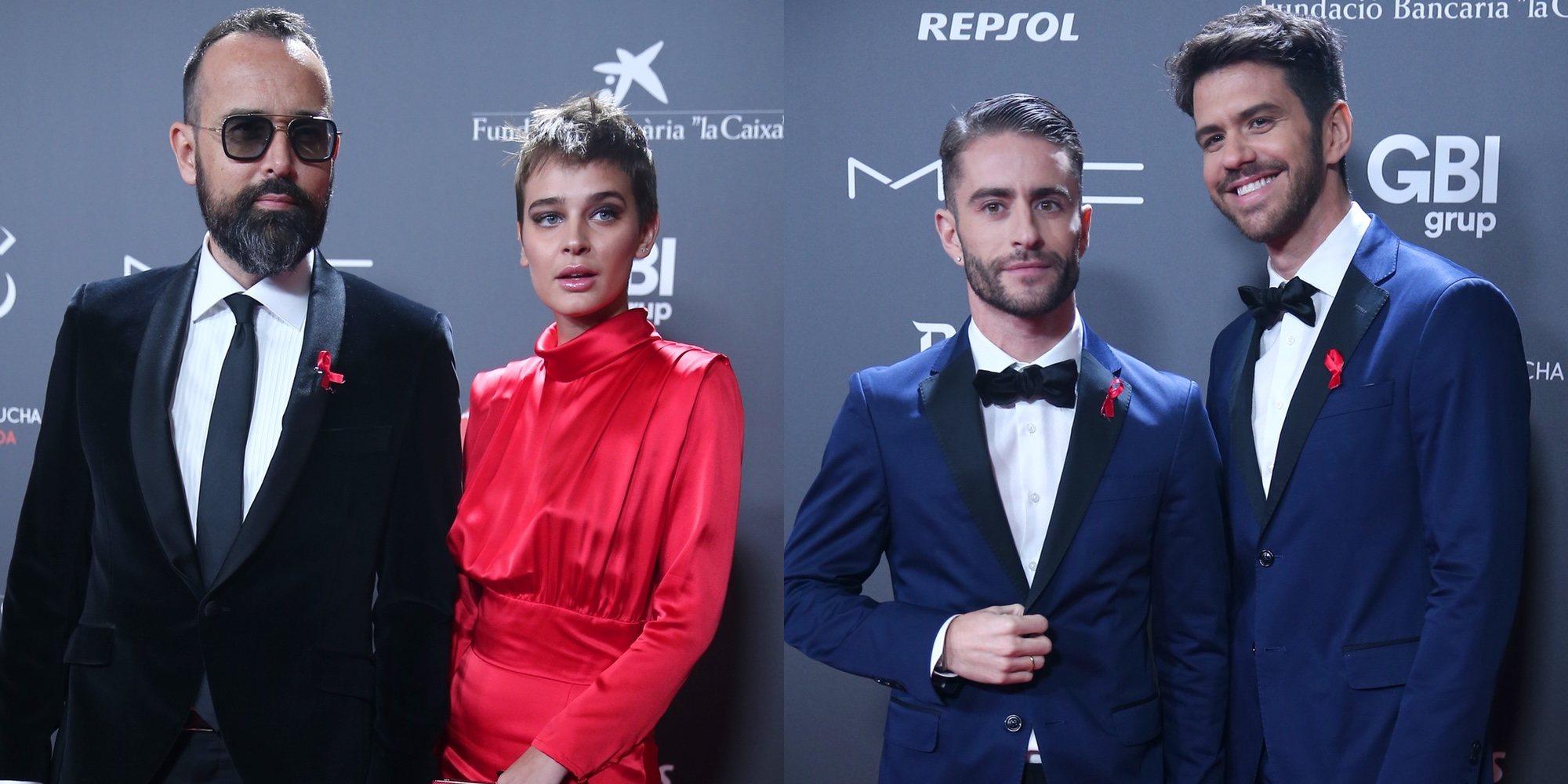 Laura Escanes y Risto Mejide, Pelayo Díaz y Andy McDougall... El amor, el protagonista de la 'People in red'