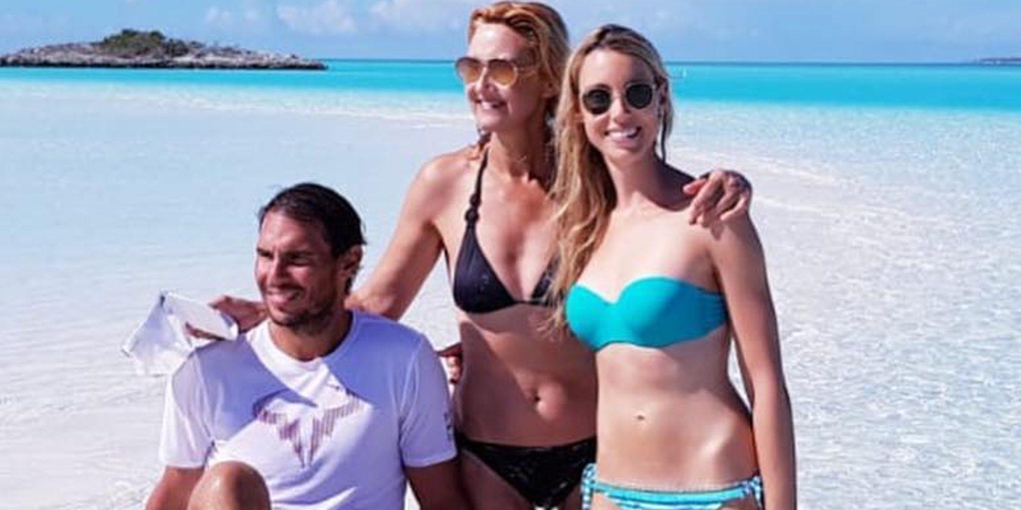 Rafa Nadal disfruta de unas vacaciones familiares en las Bahamas mientras se recupera de su tobillo
