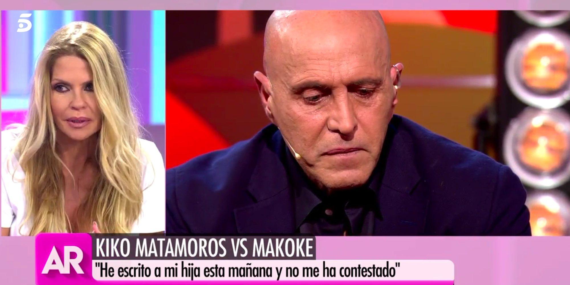 """Makoke no quiere hablar de las lágrimas de Kiko Matamoros por su hija Anita Matamoros: """"Él sabrá"""""""