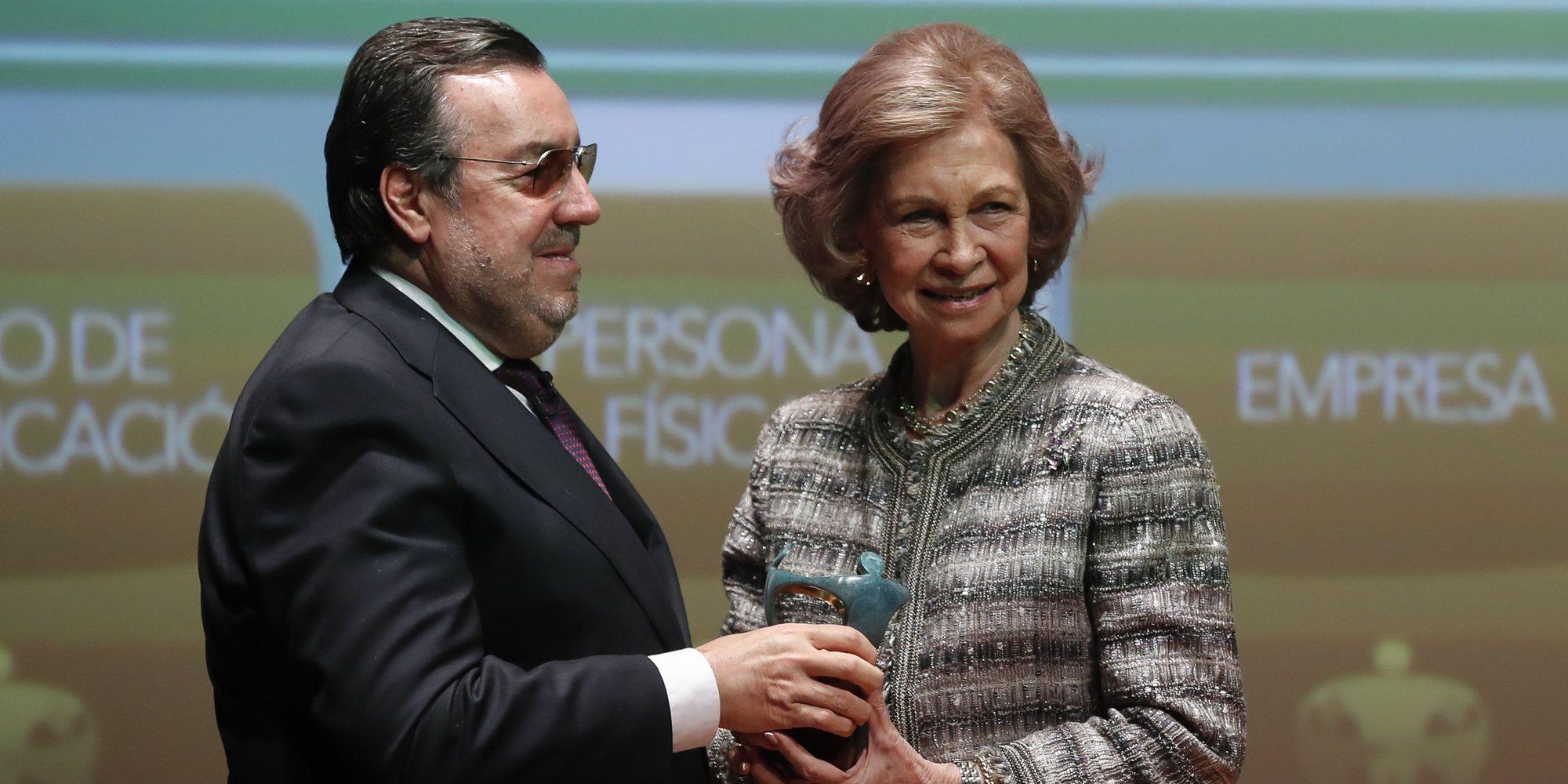 La emoción de la Reina Sofía al recibir el Premio Especial Solidarios ONCE 2018