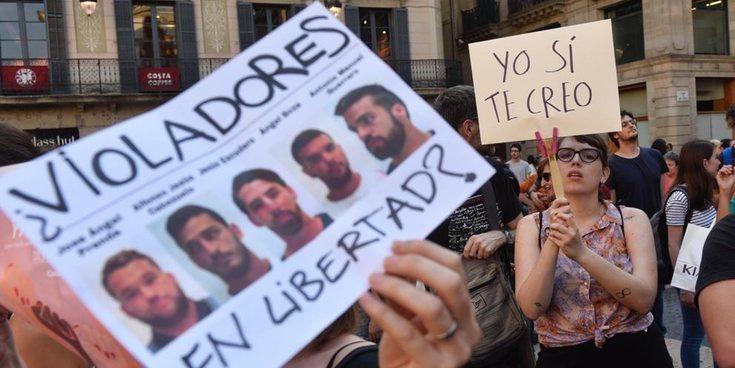'La Manada', condenada a 9 años de cárcel por abuso sexual de una joven en San Fermín 2016