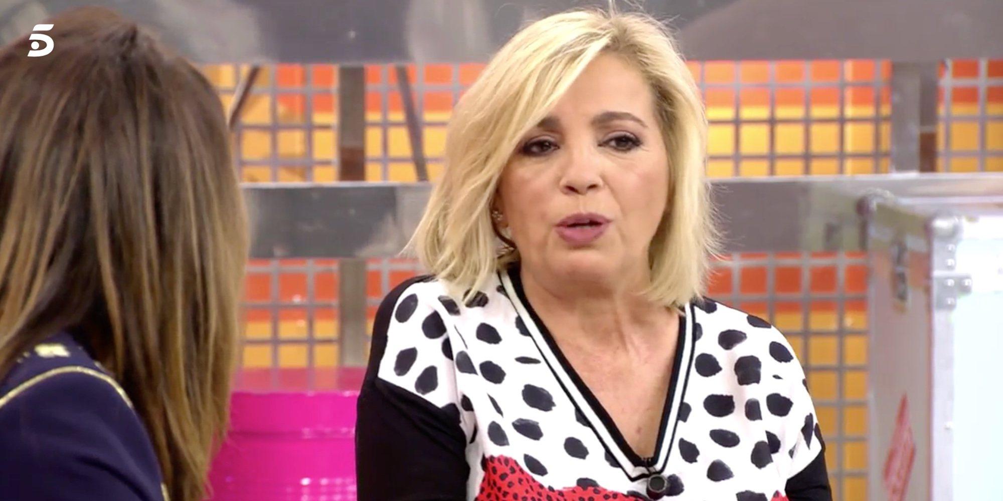 """Carmen Borrego se rompe al hablar de la difícil recuperación de Terelu Campos: """"Sé que eres fuerte"""""""