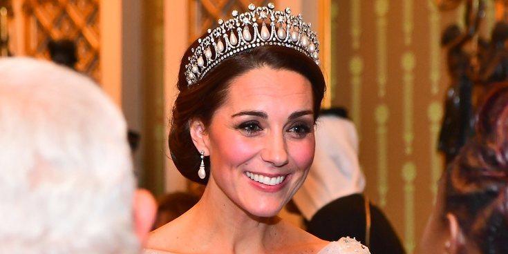 Kate Middleton reina en la recepción al Cuerpo Diplomático con la tiara favorita de Lady Di