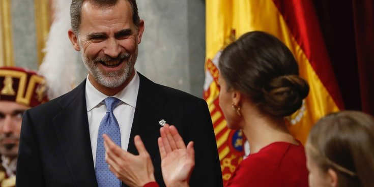El doble motivo del largo y llamativo aplauso de la Reina Letizia al Rey Felipe en los 40 años de la Constitución