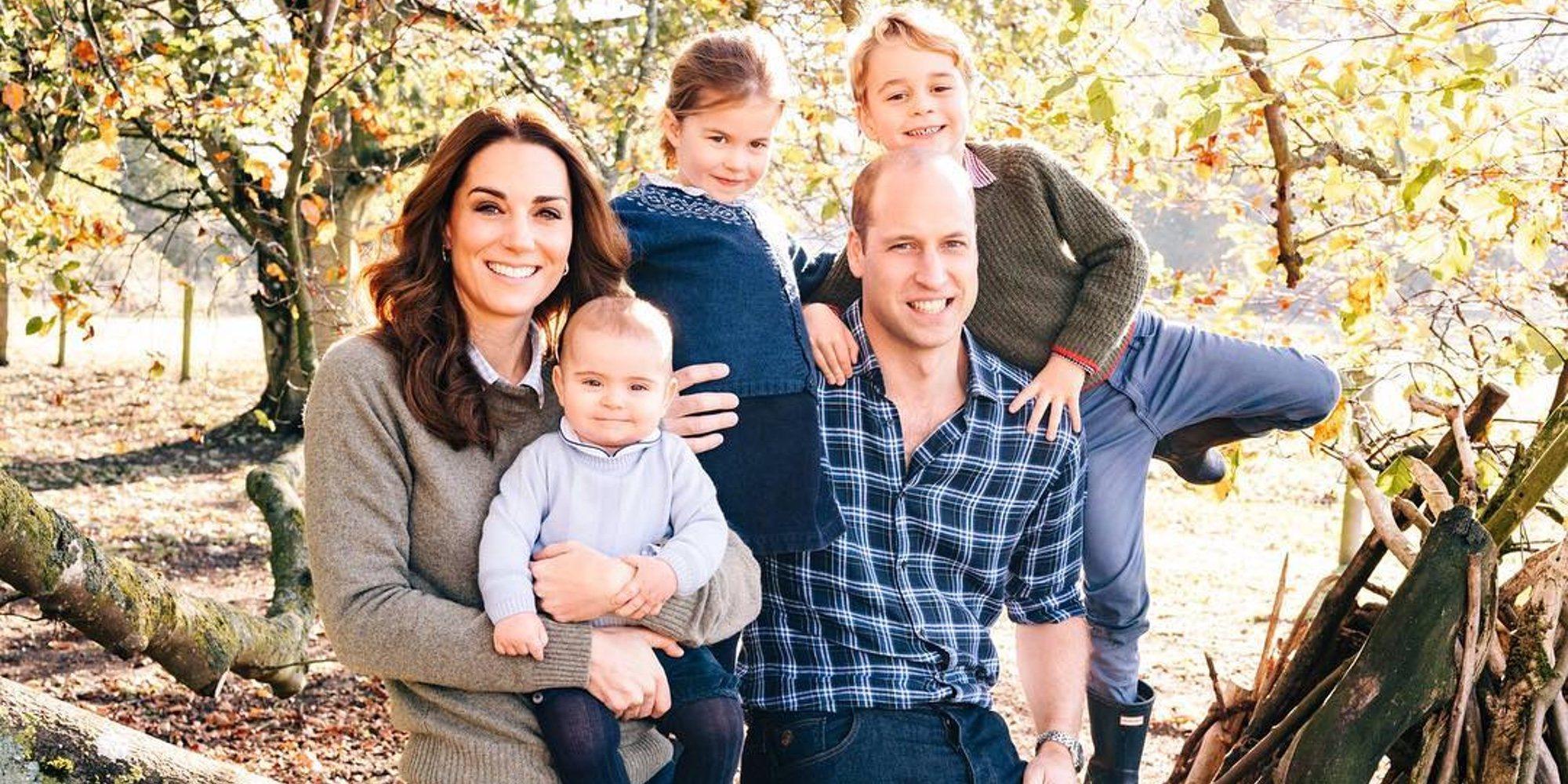 El adorable posado del Príncipe Guillermo y Kate Middleton con sus hijos Jorge, Carlota y Luis para felicitar la Navidad 2018