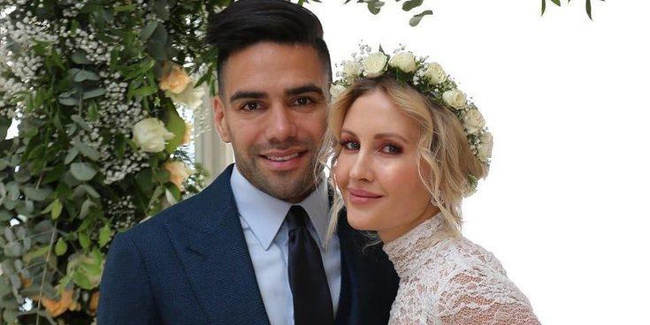 Falcao y su mujer Lorelei Tarón se han casado por segunda vez
