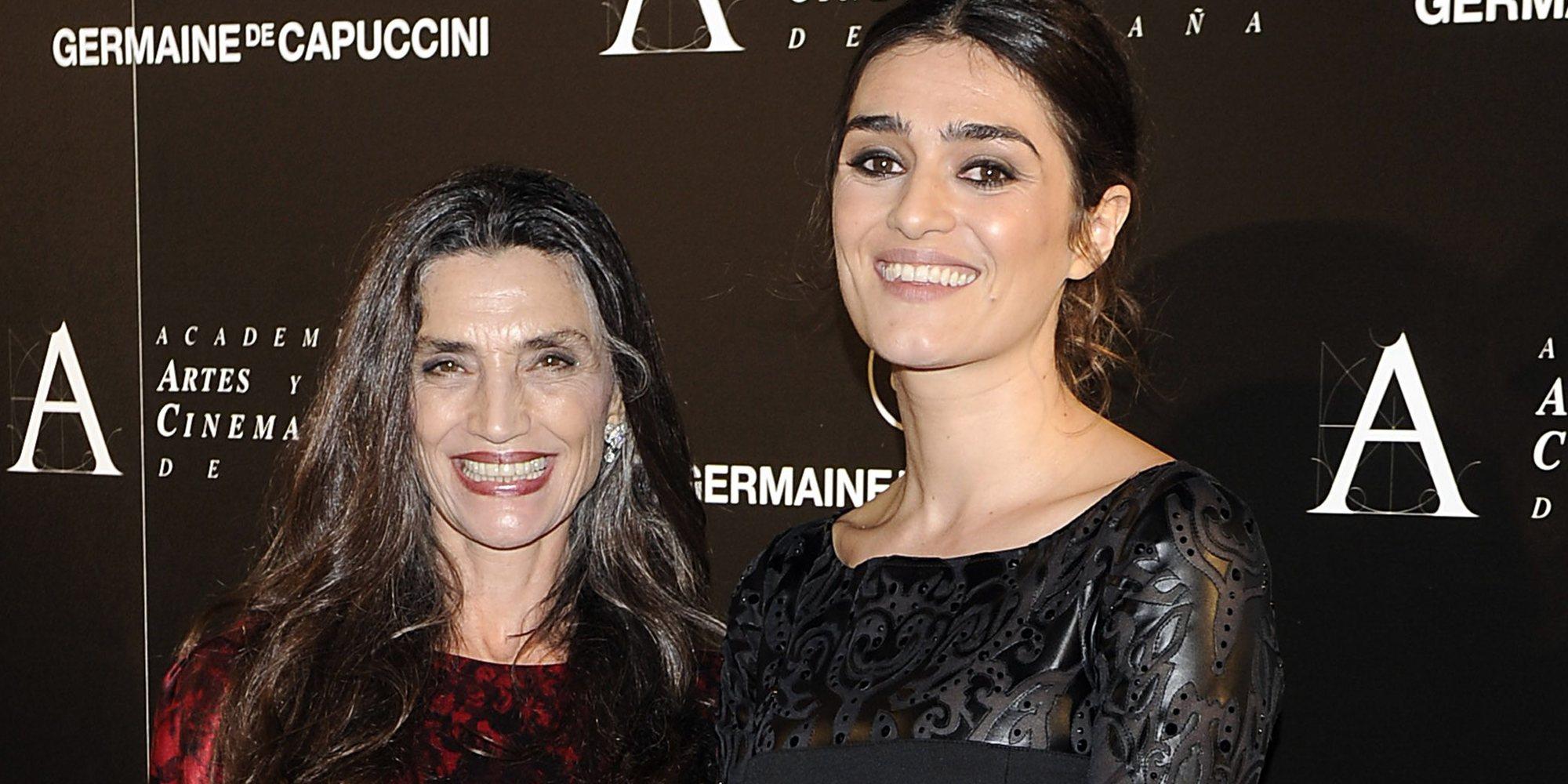 Ángela y Olivia Molina, por primera vez juntas en el set de rodaje para ser madre e hija también en la ficción
