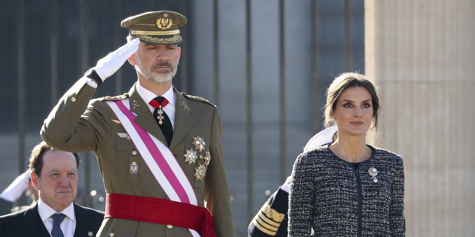 Los Reyes Felipe y Letizia presiden la primera Pascua Militar de Pedro Sánchez como Presidente del Gobierno