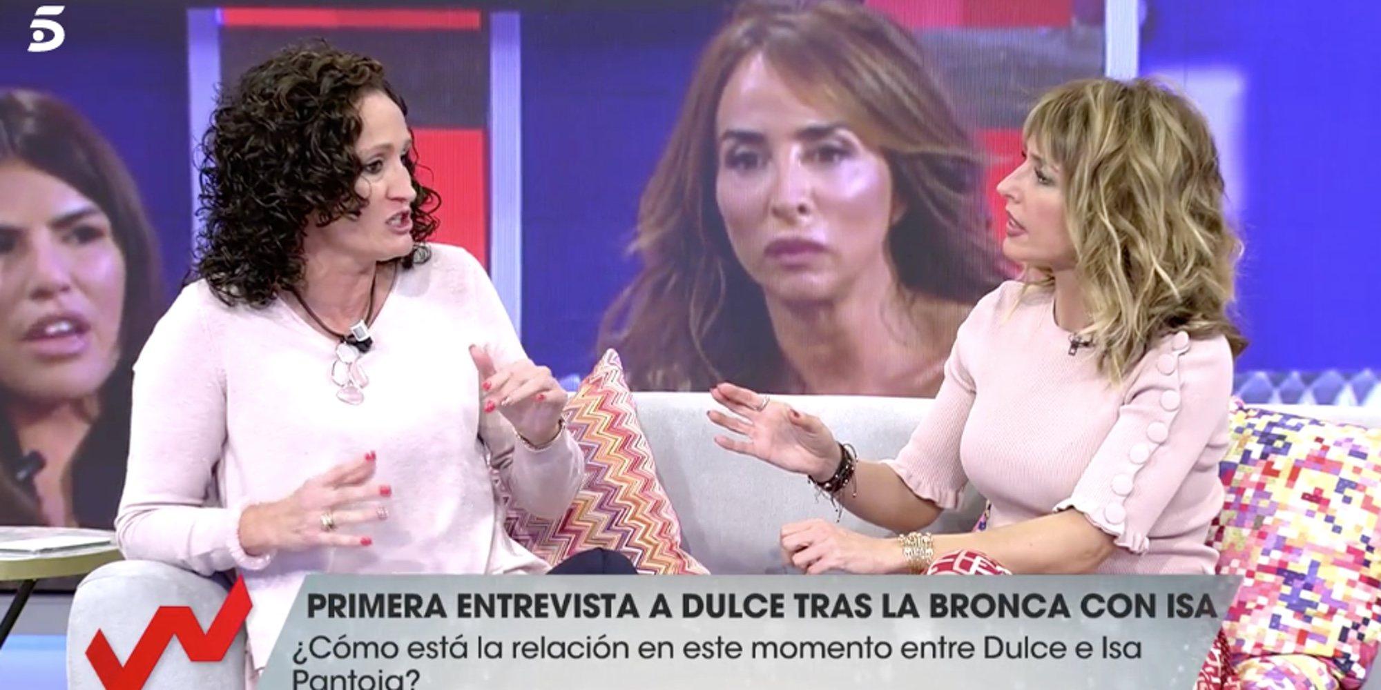 """Dulce contesta duramente a todo lo que dijo Isabel Pantoja sobre ella en 'Sálvame': """"No me hagas hablar"""""""