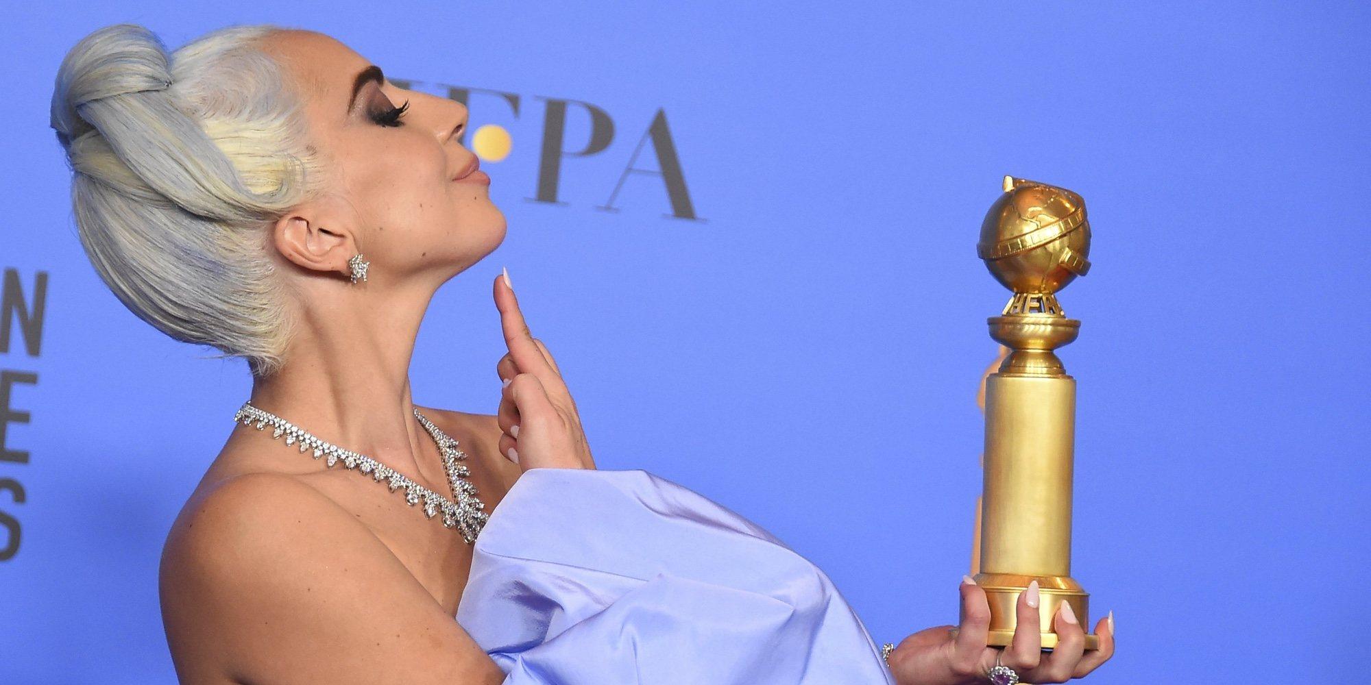 Lady Gaga durmió con el premio de los Globos de Oro 2019 la noche de la ceremonia
