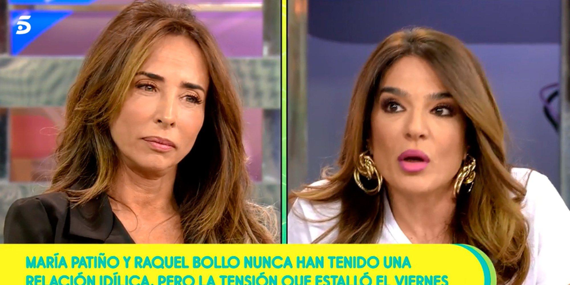 María Patiño y Raquel Bollo viven su momento más tenso en 'Sálvame'