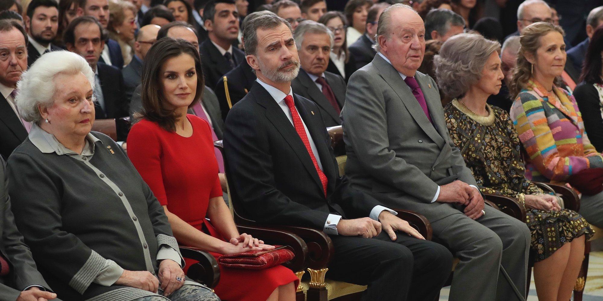 El reencuentro de la Reina Letizia con la Infanta Elena y la complicidad del Rey Felipe y el Rey Juan Carlos en El Pardo