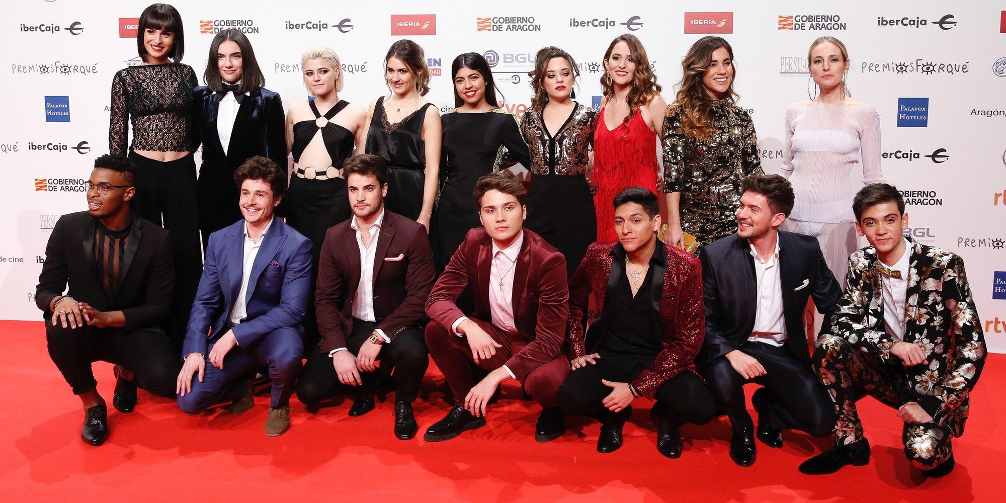 Los exconcursantes de 'OT 2018', grandes protagonistas de la alfombra roja de los Premios Forqué 2019