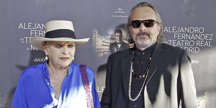 Miguel Bosé se apoya en su madre, Lucía Bosé, tras la ruptura con Nacho Palau