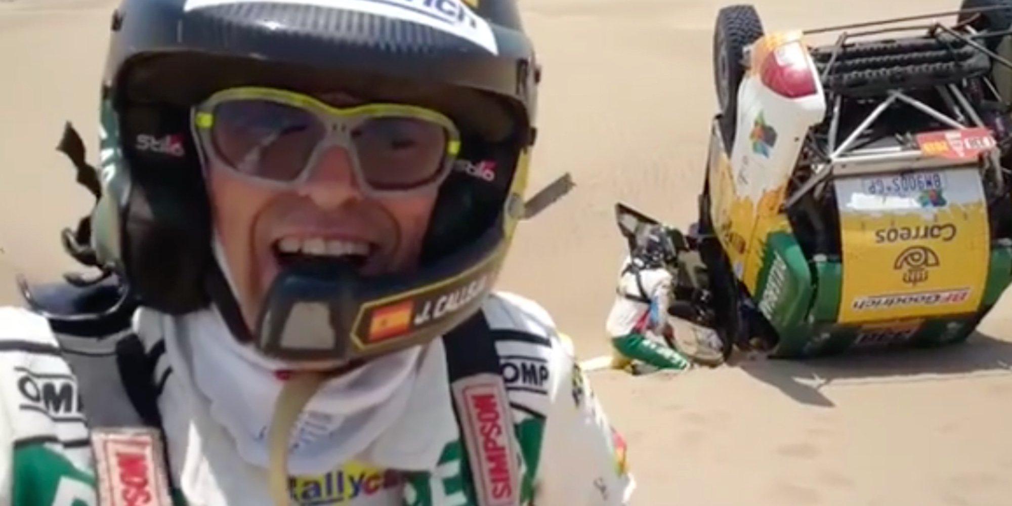 Jesús Calleja abandona el rally Dakar por tercera vez tras un desafortunado accidente