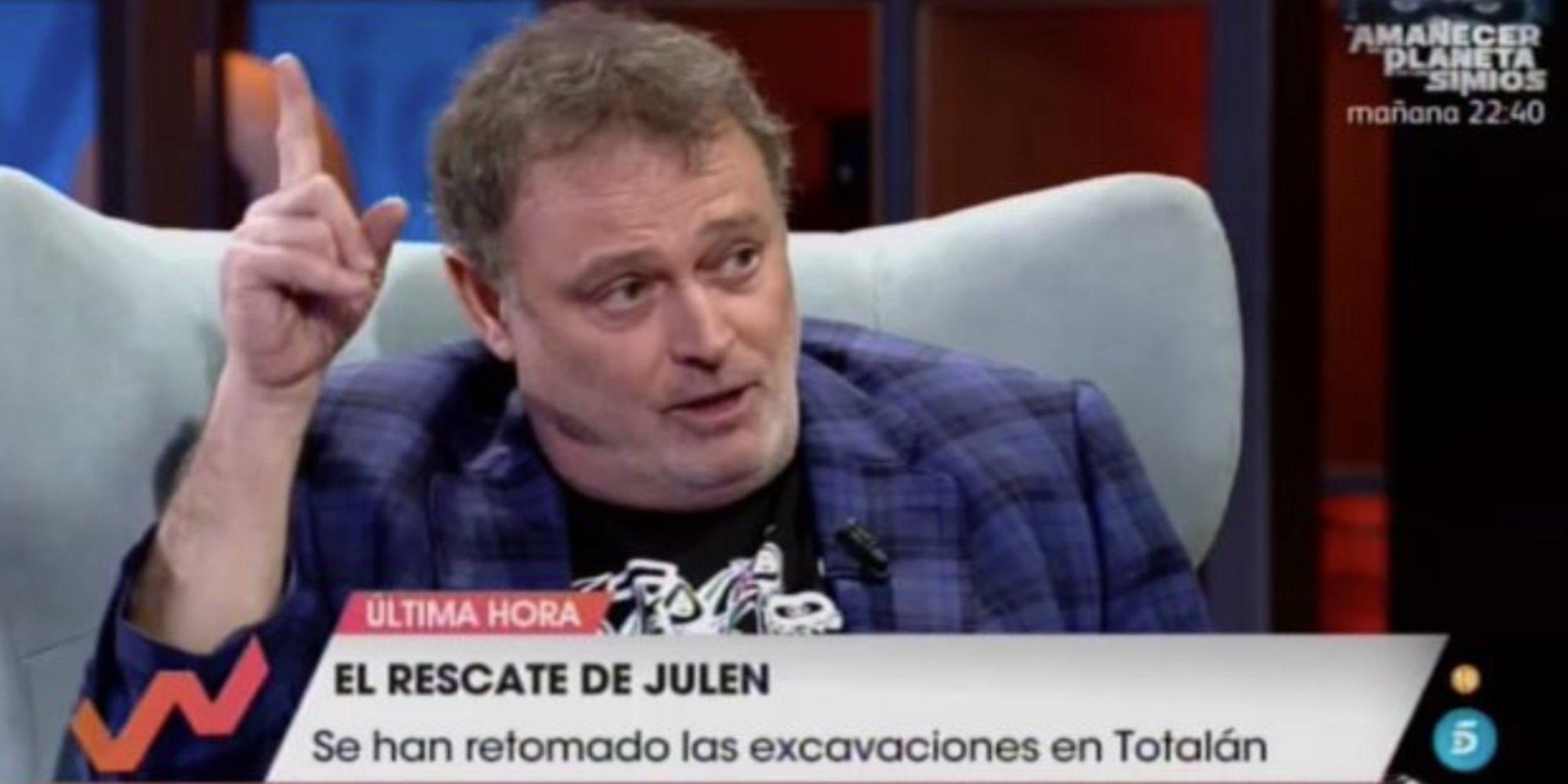Pablo Carbonell, muy criticado por sus comentarios sobre el rescate de Julen, el niño del pozo de Totalán