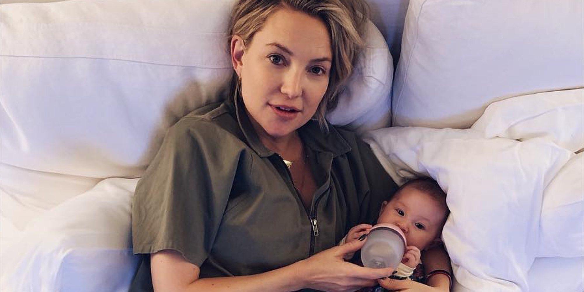 """Kate Hudson, una madre todoterreno: """"La maternidad no nos ralentiza"""""""