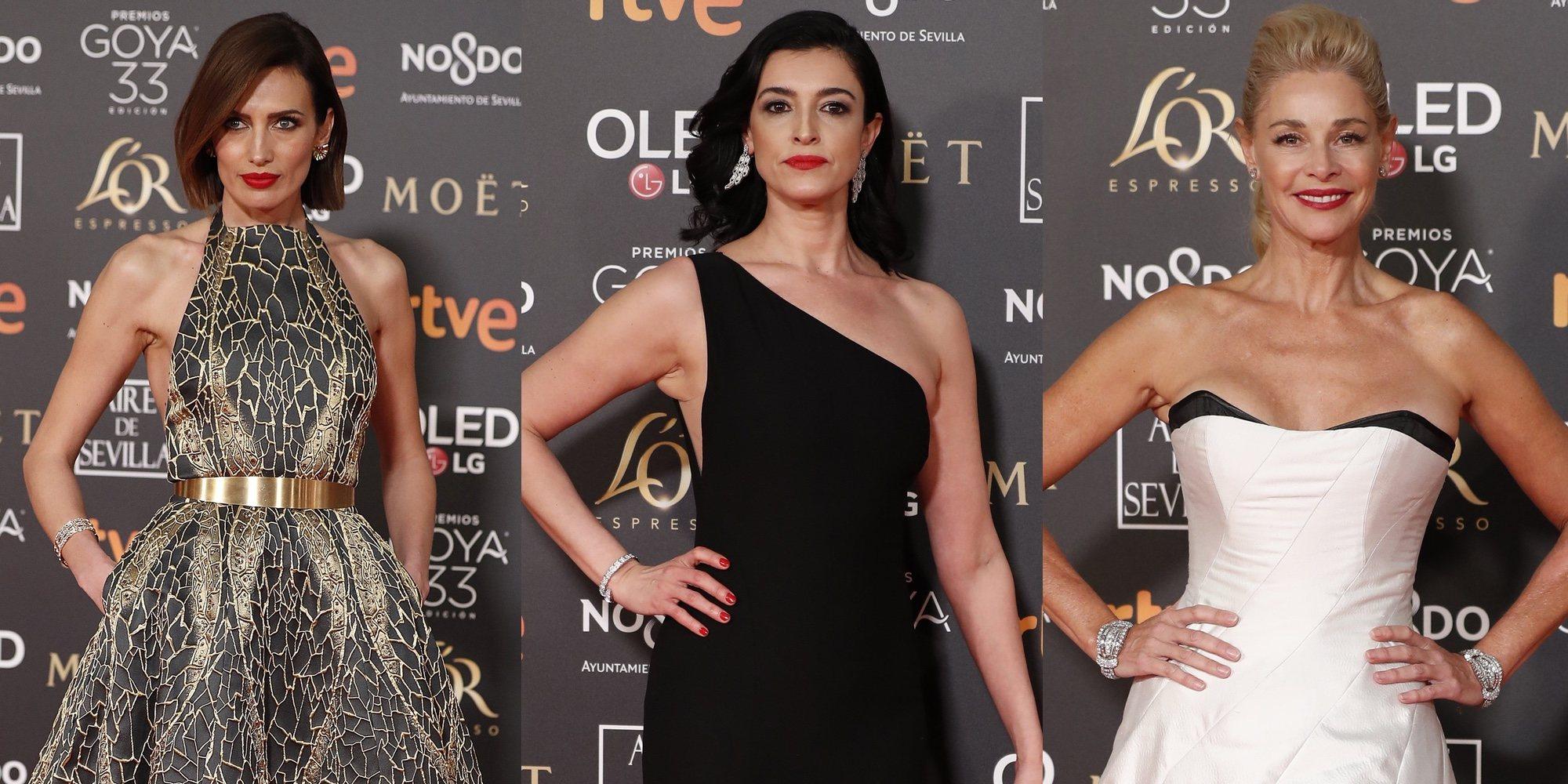 Nieves Álvarez, Blanca Romero y Belén Rueda derrochan glamour en la alfombra roja de los Premios Goya 2019