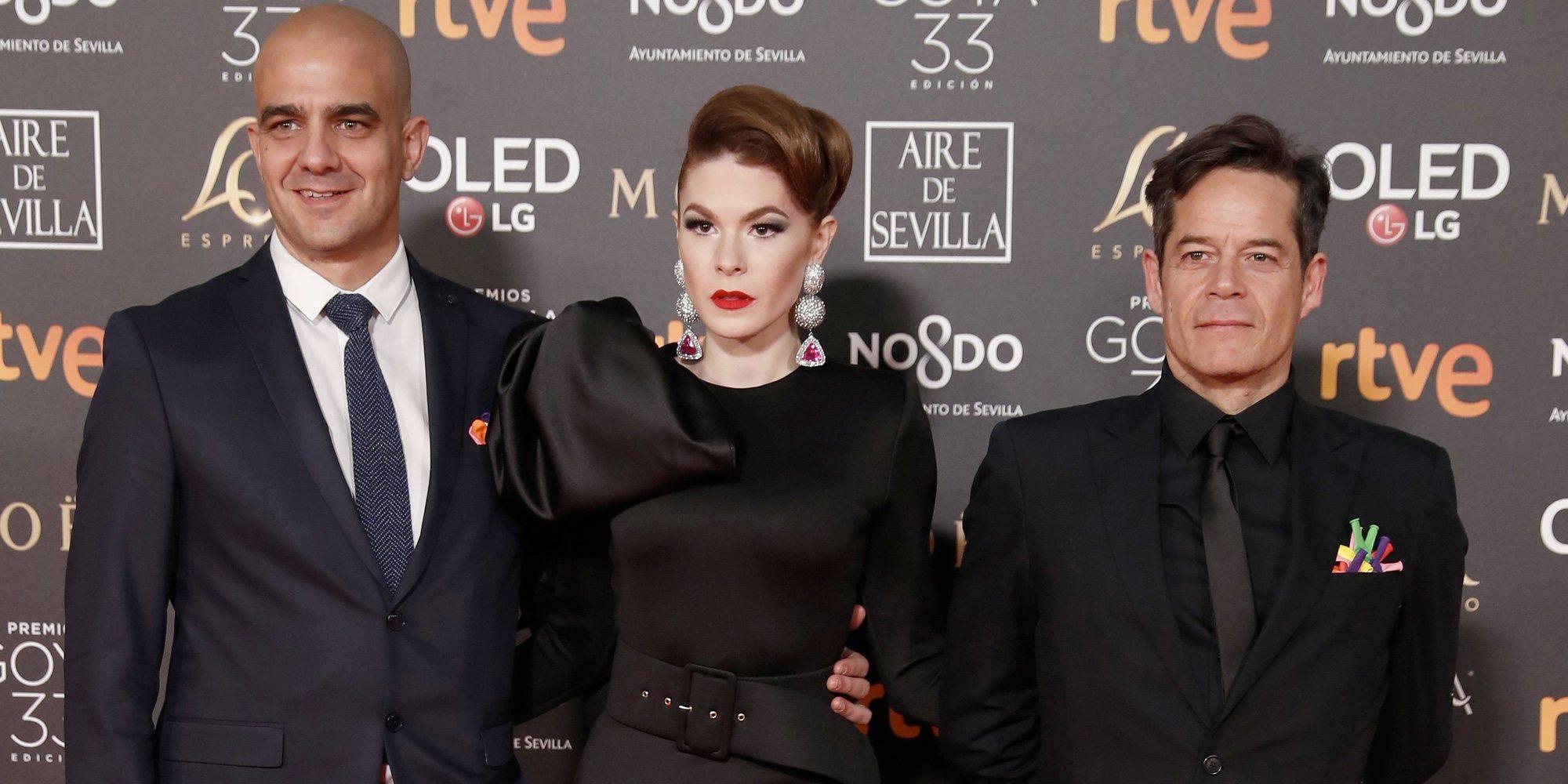 Jorge Sanz reaparece tirando de humor en los Goya 2019 tras la muerte de Paloma Gómez, madre de su hijo mayor